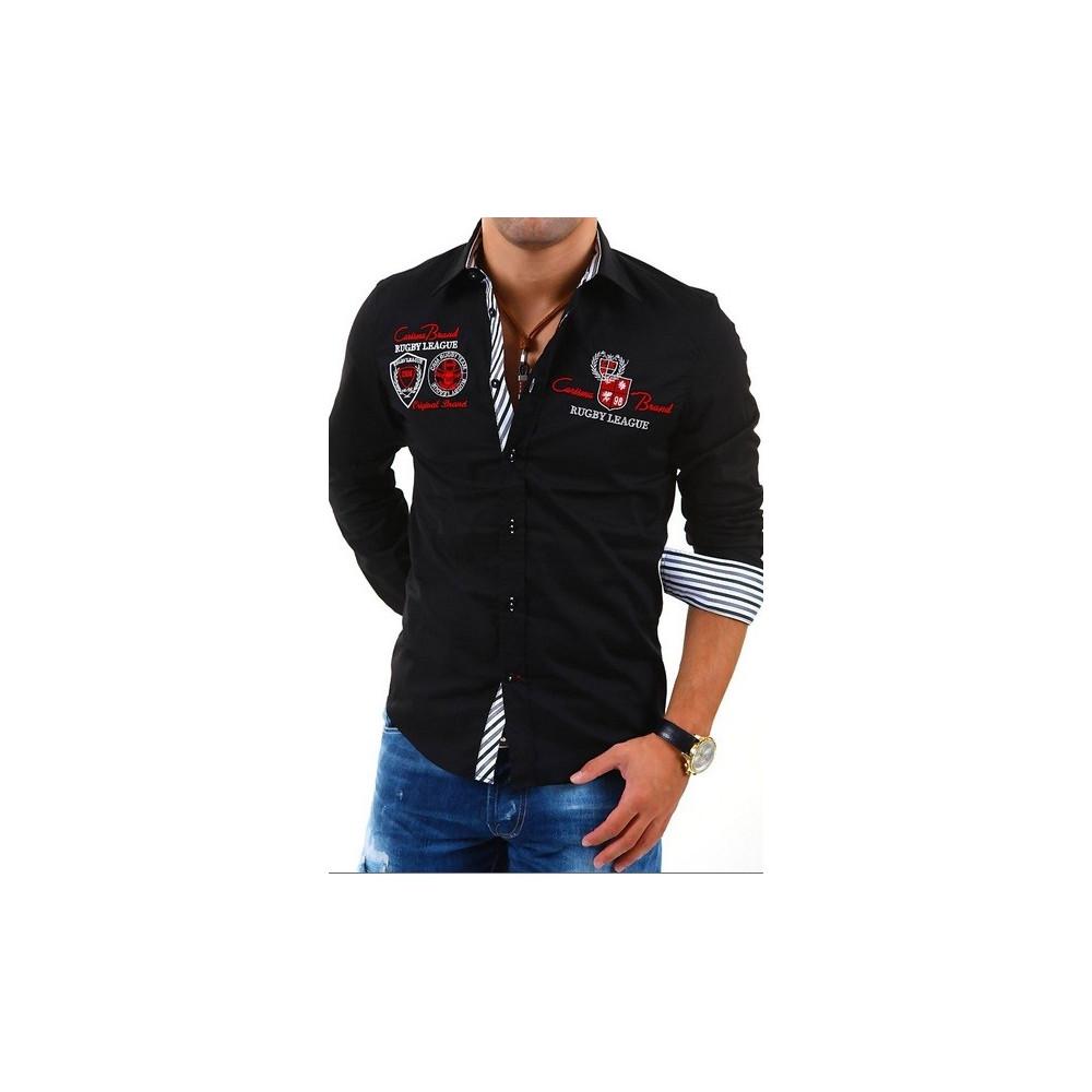 CARISMA košile pánská 8004 dlouhý rukáv slim fit černá 6d02e501a0