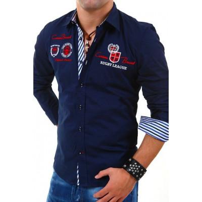 CARISMA košile pánská 8004 dlouhý rukáv slim fit tmavě modrá