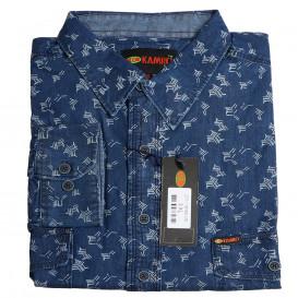 KAMRO košile pánská 277-16193 nadměrná velikost 100ˇ% bavlna