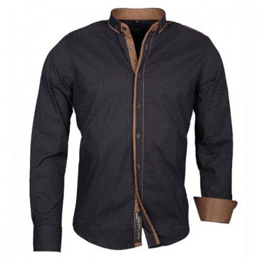 CARISMA košile pánská 8243 dlouhý rukáv slim fit stojatý límeček