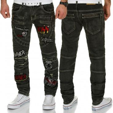 KOSMO LUPO kalhoty pánské KM183 jeans džíny